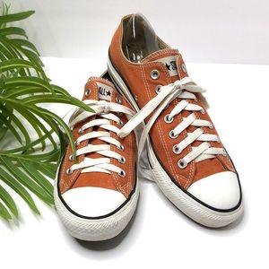 Converse Chuck Taylor All Star Orange Low Top Sz 9